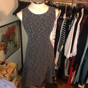 EVA MENDES NY&CO Black white boucle knit dress 6 s